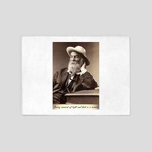 Walter Walt Whitman American Poet E 5'x7'Area Rug