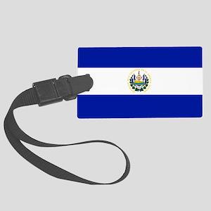 El Salvador flag Large Luggage Tag