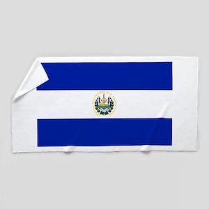 El Salvador flag Beach Towel