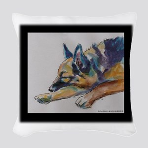 Sleeping Shepherd Woven Throw Pillow