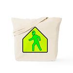Alien Crossing Tote Bag