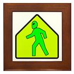 Alien Crossing Framed Tile