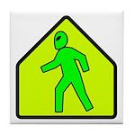 Alien Crossing Tile Coaster