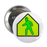 "Alien Crossing 2.25"" Button (10 pack)"