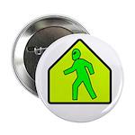 "Alien Crossing 2.25"" Button (100 pack)"