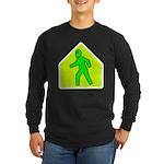Alien Crossing Long Sleeve Dark T-Shirt