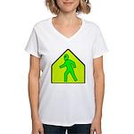 Alien Crossing Women's V-Neck T-Shirt