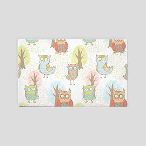 Cute Owls Area Rug