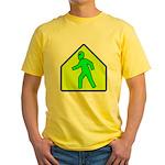Alien Crossing Yellow T-Shirt