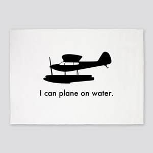 Plane on Water 1407043 5'x7'Area Rug