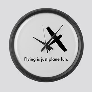 Plane Fun 1407044 Large Wall Clock