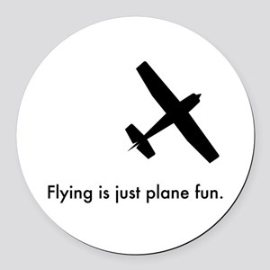 Plane Fun 1407044 Round Car Magnet
