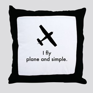 Plane and Simple 1407042 Throw Pillow