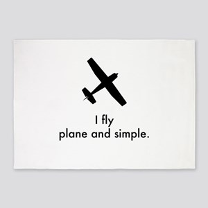 Plane and Simple 1407042 5'x7'Area Rug