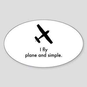 Plane and Simple 1407042 Sticker