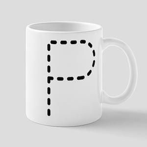p monogram Mugs