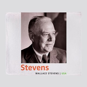 Wallace Stevens American Modernist P Throw Blanket