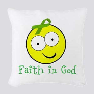 Personalizable Kidney Smiley Woven Throw Pillow