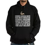 Women should date men with muscles Hoodie