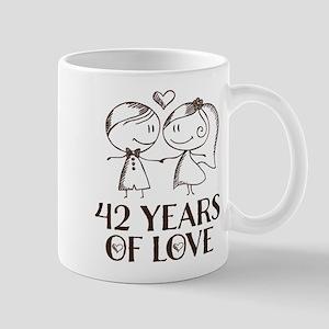 42nd Anniversary chalk couple Mug
