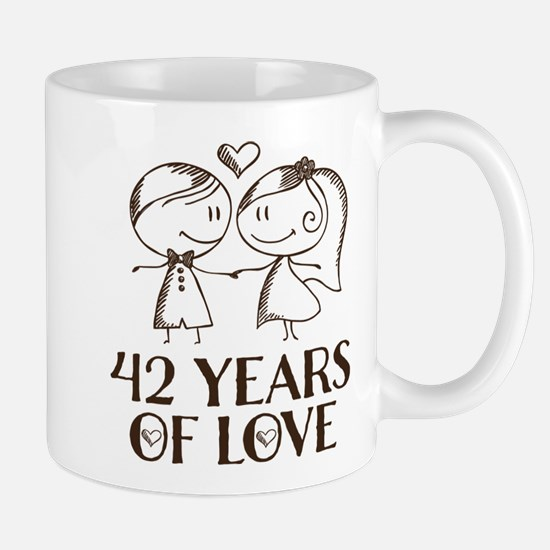 42nd Anniversary chalk couple Mug