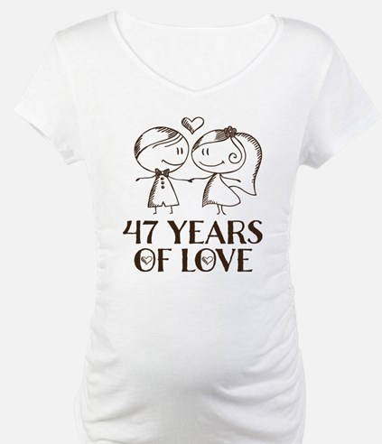 47th Anniversary chalk couple Shirt