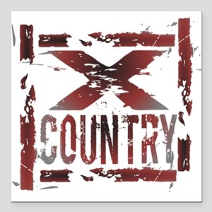 """Cross Country Square Car Magnet 3"""" x 3"""""""