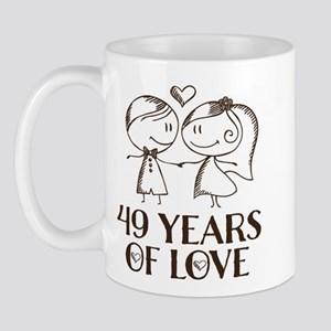 49th Anniversary chalk couple Mug