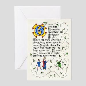 Good King Wenceslas Greeting Cards