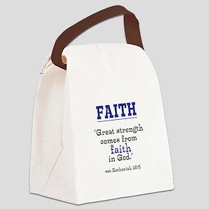 Faith Series-Zechariah 12:5 Canvas Lunch Bag