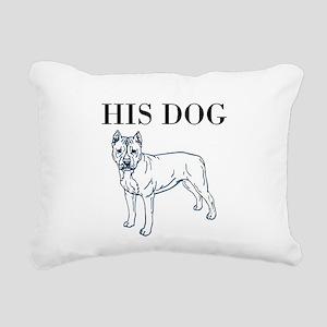 OYOOS His Dog design Rectangular Canvas Pillow