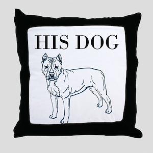 OYOOS His Dog design Throw Pillow