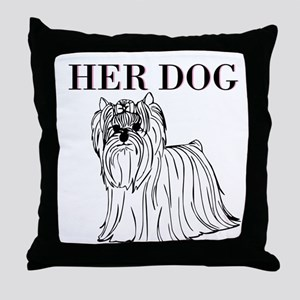 OYOOS Her Dog design Throw Pillow