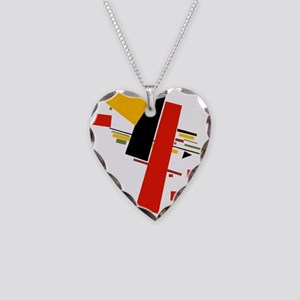 Kazemir Malevich Soviet Russi Necklace Heart Charm