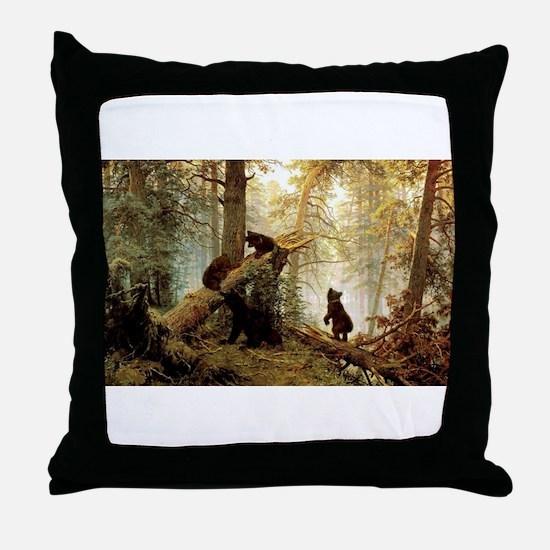 Shishkin Russian Painter Morning in a Throw Pillow