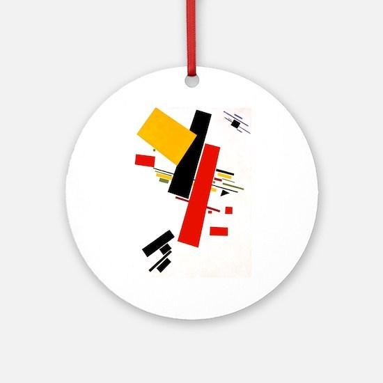 Kazemir Malevich Soviet Russian A Ornament (Round)