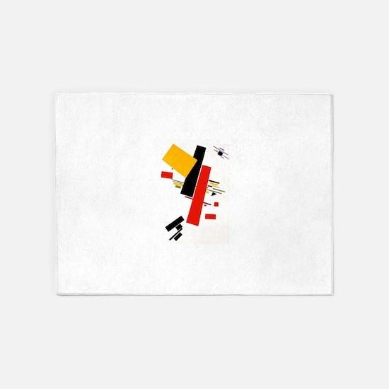 Kazemir Malevich Soviet Russian Art 5'x7'Area Rug