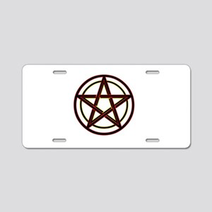 Neon Pentacle Aluminum License Plate