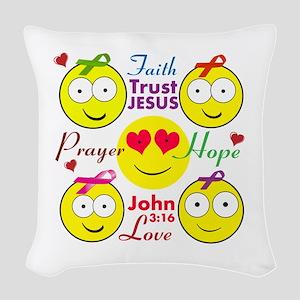 Faith Woven Throw Pillow