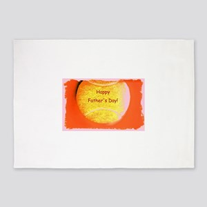 Orange Tennis Ball Fathers Day for 5'x7'Area Rug
