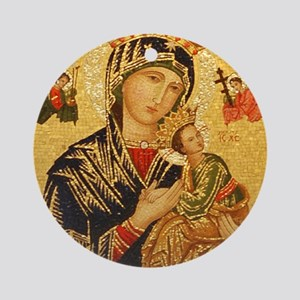 Our Lady of Perpetual Help Round Ornament