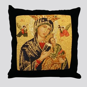 Our Lady of Perpetual Help Throw Pillow