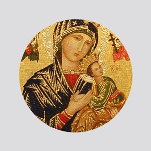 "Our Lady of Perpetual Help 3.5"" Button"