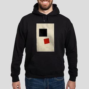 Malevich T-shirt geometric Abstract Hoodie (dark)