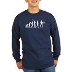 Superhero Evolution Long Sleeve Dark T-Shirt