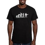 Superhero Evolution Men's Fitted T-Shirt (dark)