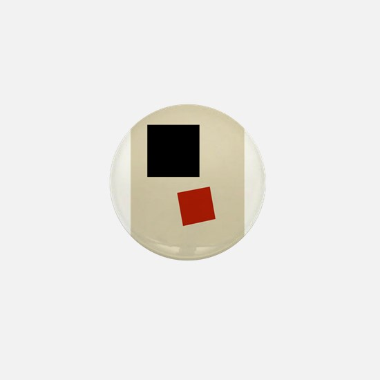Malevich T-shirt geometric Abstract Ar Mini Button