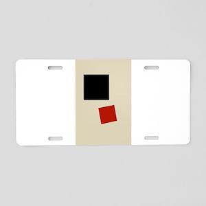 Malevich T-shirt geometric Aluminum License Plate