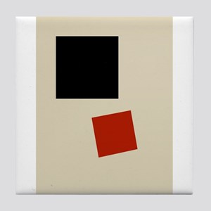 Malevich T-shirt geometric Abstract A Tile Coaster