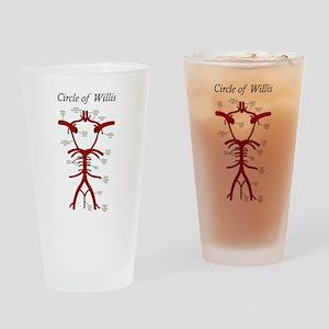 Circle of Willis Drinking Glass